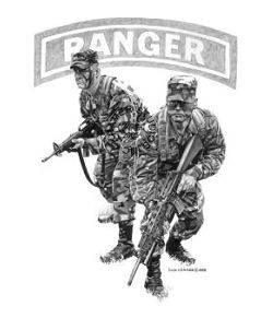 RANGERS - PRINTS AVAILABLE - ORIGINAL SOLD