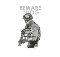 BEWARE OF THE DOG  - ORIGINAL DONATED TO USCG